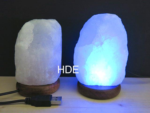salzkristall lampe mini multicolor mit usb kabel. Black Bedroom Furniture Sets. Home Design Ideas